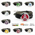 30mm Stainless Steel Bracelet Aroma Essential Oil Diffuser Locket Wristband