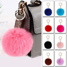 Women Faux Fur Pom-pom Key Chain Bag Charm Ball Keyring Pendant Accessories 1pc