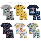 Toddler Little Big Boys Dinosaur Pajamas Snug-Fit Short 100 Cotton Kids Pjs Set