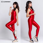 2021 LEOHEX Lady Jumpsuits Playsuits Overalls Wetlook Shiny Tights Leotard Pants