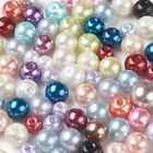Glass Pearl Beads Round Glass Mixed Colour Jewellery Wedding Sewing Crafts