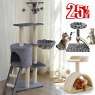 Large Cat Tree Activity Centre Multilevel Scratching Post House Climbing Tower