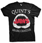 Unisex JAWS Quints Shark Charter Retro Movie logo T-Shirt