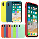 Genuine Original Silicone/Leather Case Cover For iPhone 12 11 Pro Max XS XR 7 8