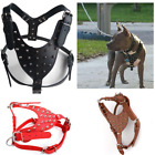 PU Leather Rivets Spiked Dog Harness Large Dogs Rivet Pet Halter Breast Strap SH