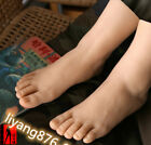 Silicone Lifelike Male Boy Foot Model Size 36 Feet Shoes Display Mannequin Props