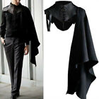 Medieval Armor Men Black Cloak Single Shoulder Retro Cape Gothic Punk Costume