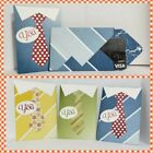 Father's day GIFT CARD HOLDER with closure - CUTE COLLAR  TIE on shirt