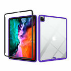 """For iPad Pro 12.9"""" 4th Generation 2020 Clear Rubber Shockproof Hybrid Case Cover"""