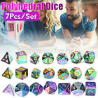 7Pcs Polyhedral Dice Muti-sided Resin Dices Set For Board Table Game Gifts New