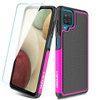 For Samsung Galaxy A12 Hard Case Rugged Armor Shockproof Cover /Screen Protector