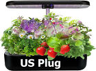 Hydroponic Grow Kit 12 Plant Sites Indoor Flowers Cloning Systems + Trellis Net