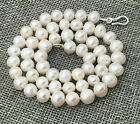 """New Natural White 7-8mm Akoya Freshwater Pearl Necklace 16-50"""" 925 Silver Clasp"""