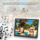 17in HD Digital Photo Frame 1440x900 Support MP3/MP4/Image Play Digital Clock