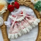 Hand-made Doll Clothes Clothing Strawberry Dress Suit Pink Lace Skirt Outfits XM