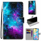 Universe Sky Flip Wallet Phone Case For Samsung S7 S8 S9 S10 S20 S21 Note 20 A71