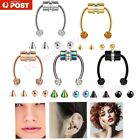 Non-piercing Magnetic Fake Septum Nose Ring Segment Helix Tragus Faux Clicker