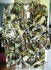 CJ Banks Ruffled & Gathered Jungle Print Blouse
