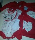 Infant Girls Small Wonder Brand My First Christmas baby 6 piece gift set NEW