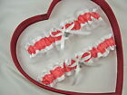 FREE SH NEW Coral White Sea Shell Wedding Garters Prom