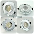 12V LED Einbaustrahler Downlight Set inkl. MR16/Gu5,3 LED Lampe warmweiß weiß