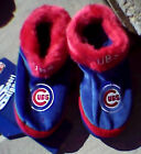 Chicago CUBS Unisex Bootie Adult SLIPPERS NWT S M L XL Super Soft Fluffy NEW