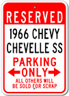 1966 66 CHEVY CHEVELLE SS Parking Sign