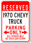 1970 70 CHEVY TRUCK Parking Sign