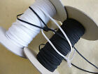 10 Metres flat elastic 4 cord 3mm wide / 8 cord 6mm wide / 12 cord 8mm wide