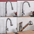 Chrome Pull Out Spray Monobloc Kitchen Sink Mixer Tap