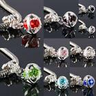 Crystal Rhinestone Evil's Eyes Dangle Charm Bead Fit European Top Brand Bracelet
