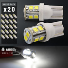 20X White T10 921 6000K License Plate Interior SMD Lights Bulbs 10-LED