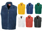 RESULT FULL ZIP UNISEX ADULT FULL ZIP  FLEECE BODYWARMER GILET - 7 GREAT COLOURS