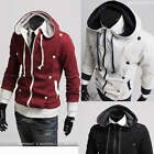 J81 New Mens Slim Fit Stylish Hoodies Coats Jackets 3 Colours US size XS,S,M,L
