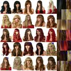 black brown blonde wig long ladies wig wavy straight curly with fringe cheap wig