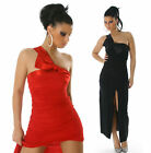 NEW SEXY LONG COCKTAIL EVENING DRESS HIGH SLIT SZ 6 8 10 12 RED/BLACK/BLUE/WHITE