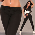 NEW SEXY LOW CUT SKINNY PANTS BLACK/CAPPUCCINO SZ 10 12 OFFICE/PARTY/WORK/CASUAL