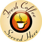 HOT COFFEE LARGE Catering Exterior Grade Printed Stickers Various Designs