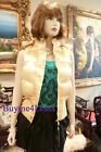 Gold Designer Style Vest Sports Snow Ski Puffer Down Hooded Fur Jacket Outerwear