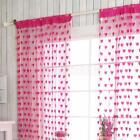 Heart Tassel String Mesh Door Patio Voile Curtain Hanging Panel 200x100cm Colour