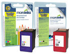 2 Remanufactured HP 58 / 57 Ink Cartridges for Photosmart 7150 Printer & more