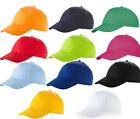 Childrens Baseball Cap - 14 Great Colours Sports School