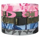 Camo Camouflage Dog Collar Nylon Guardian Gear Pet Collar Green Pink Blue Black