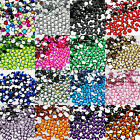 1000 RHINESTONES GEMS 6mm ACRYLIC FLAT BACK ART CARDS 14 COLOURS NEW HIGH Q.