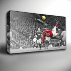 WAYNE ROONEY Overhead Kick MAN UNITED - Canvas Art Print *Choose your size