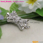 AAA Quality White Gold Plated Ziron bowknot Clasp