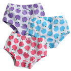 "NEW Vaenait Baby Girl 3 pack of Underwear Briefs Pantie Set "" Apple Tree Set """