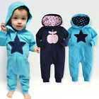 "NWT Vaenait Baby Newborn Infant Girl Boy's Hoodie One-Piece Outwear ""Apple Star"""