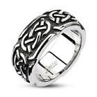 316L Stainless Steel Men's Celtic Knot Casted Band Ring Size 6-11