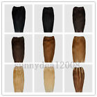One * 20inch Remy Human Hair Weft Extensions 100g, 14 colors available